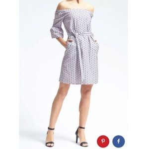 Banana Republic Swiss Dot Dress